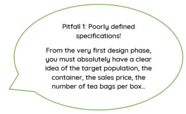 pitfall 1: poorly defined specifications for your teas and infusions project launching