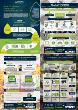 How to enhance the development of your teas & infusions with 4 infographics